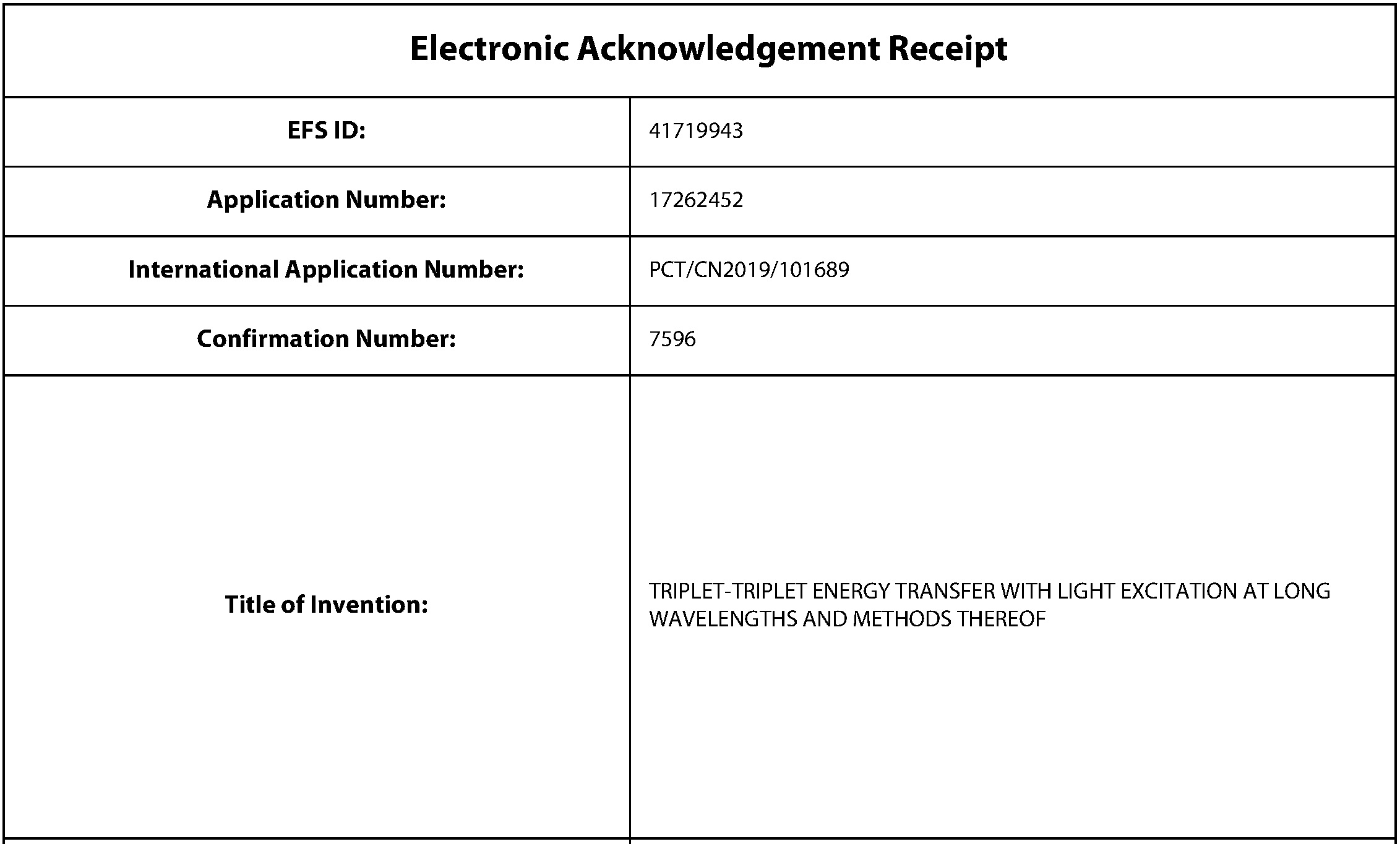 20210122 US Reg Appln as filed, E filing receipt